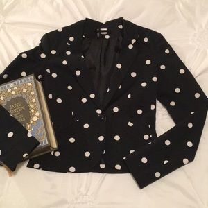 Black and White Polkadot Blazer